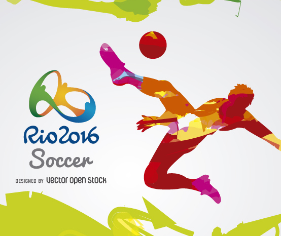 Olympics Rio 2016-Soccer Free Vector Download 358313 ...