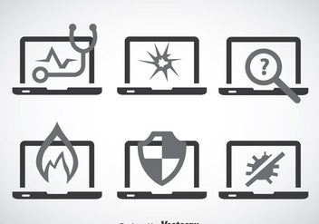 Notebook Service Icons - vector #358543 gratis