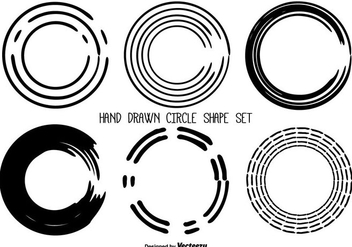 Hand Drawn Messy Circle Shape Set - Free vector #358653