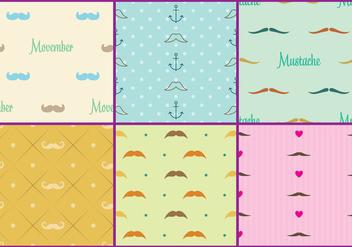 Movember Pattern Vectors - Free vector #358703