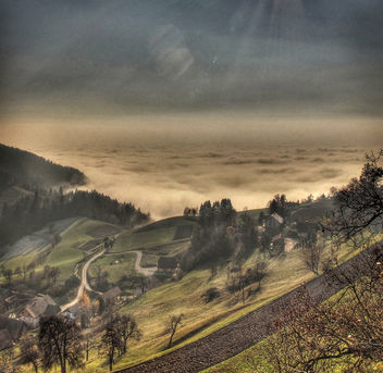Valley of fog - Free image #358743