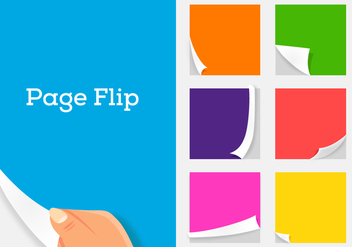 Vector Page Flip - бесплатный vector #358803