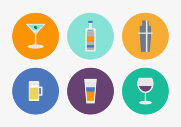 Free Cocktail Vector Icons - Free vector #358883