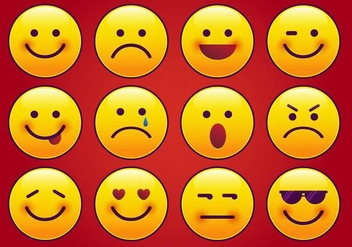 Modern Imessage Emoticon Vector - Free vector #358903