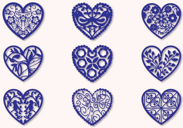 Fretwork Heart Vectors - Free vector #359003