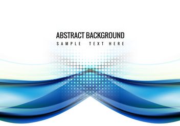 Free Blue Wave Vector Background - Free vector #359043