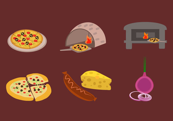 Making Pizza Vector - бесплатный vector #359303