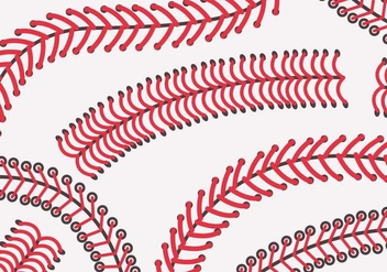 Baseball Laces Vector - Free vector #359683