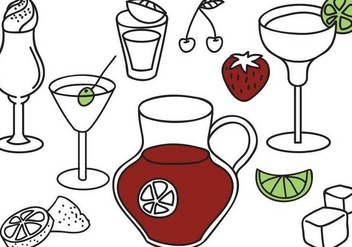 Free Beverages Vectors - vector gratuit #359903