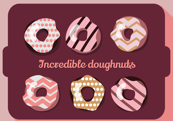 Free Set of Colorful Donuts Vector Background - Free vector #360013