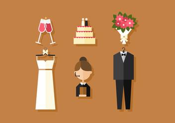 Vector Wedding Icons - Free vector #360133