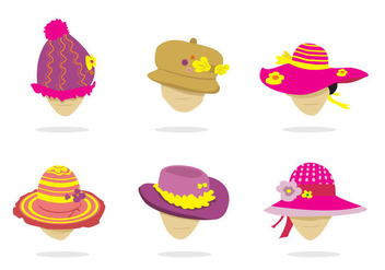 Isolated Ladies Hat Vector - бесплатный vector #360193