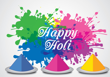 Happy Holi Background Vector - Free vector #360243