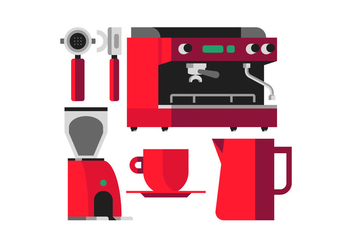 Vector Coffee Machine - бесплатный vector #360603