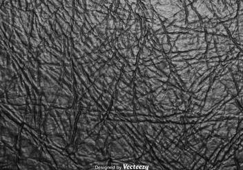 Realistic Crumpled Black Cardboard Vector Texture - Free vector #360643