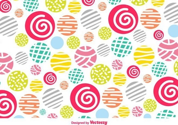 Vector Colorful Background With Hand-Drawn Decorative Elements - vector #360793 gratis
