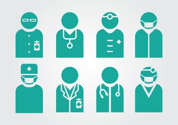Doctor and Nurse Vectors - vector gratuit #360853