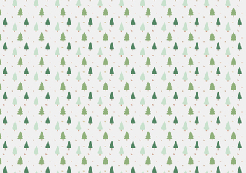 Pine Trees Pattern Background - Free vector #360883