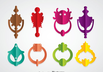 Colorful Door Knocker Vector Sets - Kostenloses vector #361073