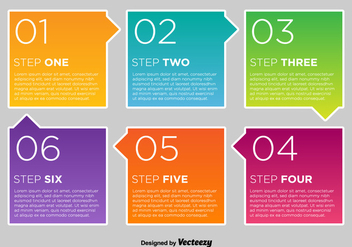 Colorful Vector Number Options Cards - Free vector #361093