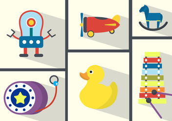 Toy Collection Vector Background - Free vector #361143