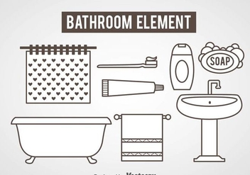 Bathroom Element Icons Vector - Free vector #361193