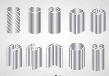 Steel Beam Construction Icons - Free vector #361283