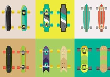 Free Longboard Skateboard Vectors - Kostenloses vector #361413