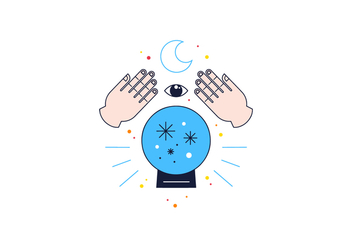 Free Crystal Ball Reading Vector - Free vector #361543