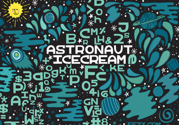 Astronaut Ice Cream Vector Font - Kostenloses vector #361763