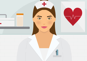 Beautiful Nurse Vector - vector gratuit #361773