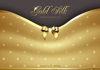 Free Gold Silk Background Vector - Free vector #361813
