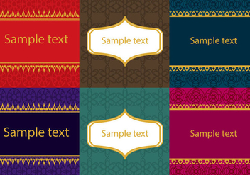 Set of Asian Thai Patterns - vector gratuit #361903