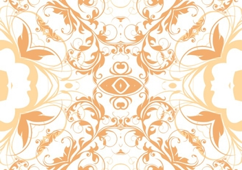 Tangerine Floral Seamless Pattern Vector - Kostenloses vector #361943