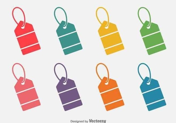 Colourful Price Tag Flat Icon - vector gratuit #362213