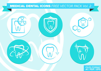 Medical Dental Icons Free Vector Pack Vol. 2 - Kostenloses vector #362263