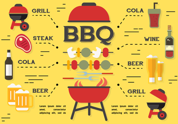 Free Barbecue Elements Vector Background - бесплатный vector #362463