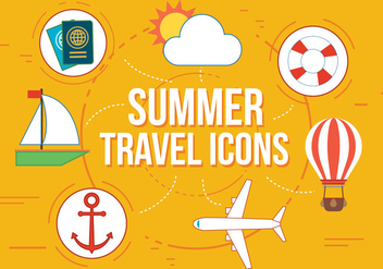 Free Summer Travel Vector Icons - бесплатный vector #362473