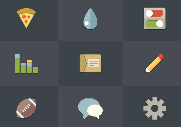 Free Flat Icon Set 02 Vector - Free vector #362553