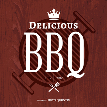 Delicious BBQ logo - бесплатный vector #362813