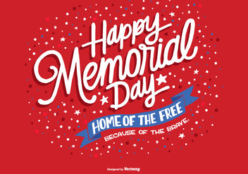 Hand Drawn Memorial Day Vector - Free vector #362883
