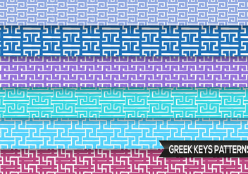 Greek Keys Patterns Vector - vector #363043 gratis