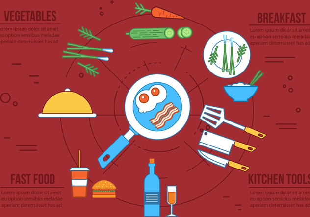 Free Vector Food Icons - Free vector #363103