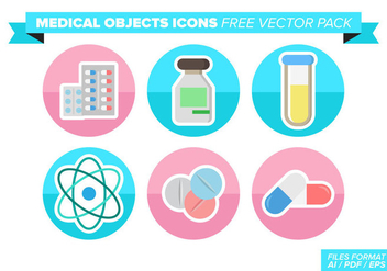 Medical Objets Icons Free Vector Pack - vector gratuit #363113