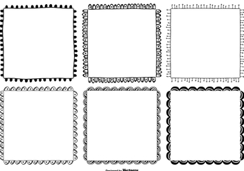Cute Hand Drawn Style Frame Set - Free vector #363173