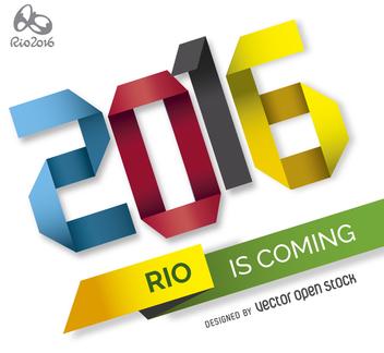 Rio 2016 origami poster - vector gratuit(e) #363243