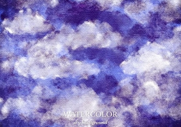 Free Vector Watercolor Sky Background - Free vector #363393