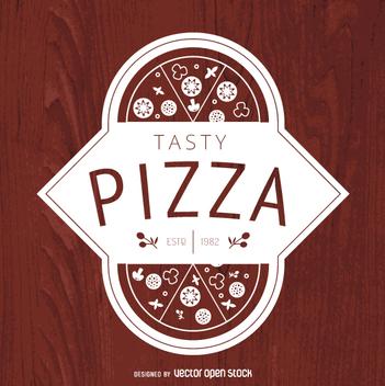Vintage pizza logo - Free vector #363443