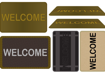 Welcome Mat Vector Set - Free vector #363913