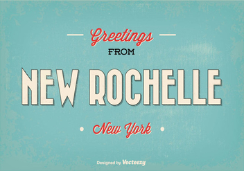 New Rochelle New York Greeting Illustration - vector gratuit #363923